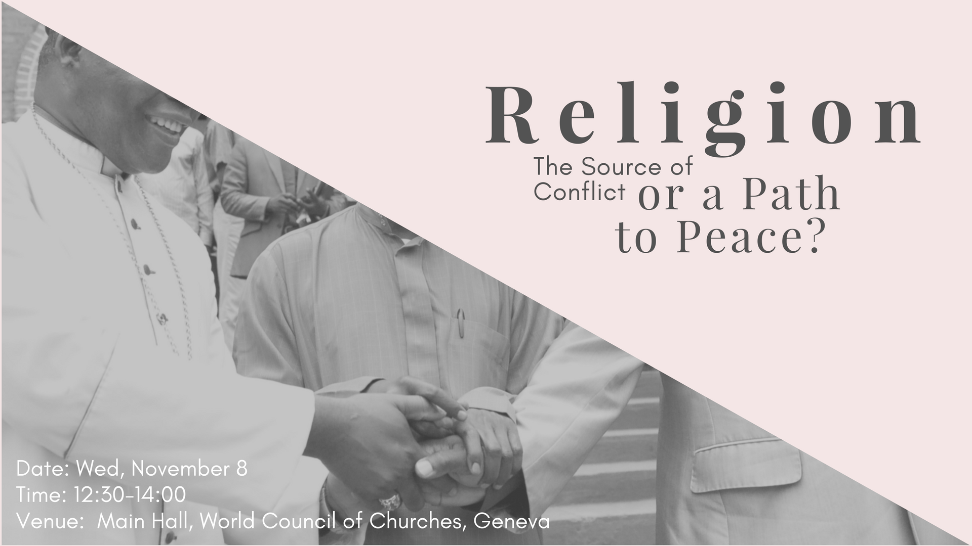 religion source of conflict or peace It found that taking part in any social group - a religion or a sports team, for example - can strengthen the bonds between citizens in a country, and corresponds with slightly higher levels of peace.